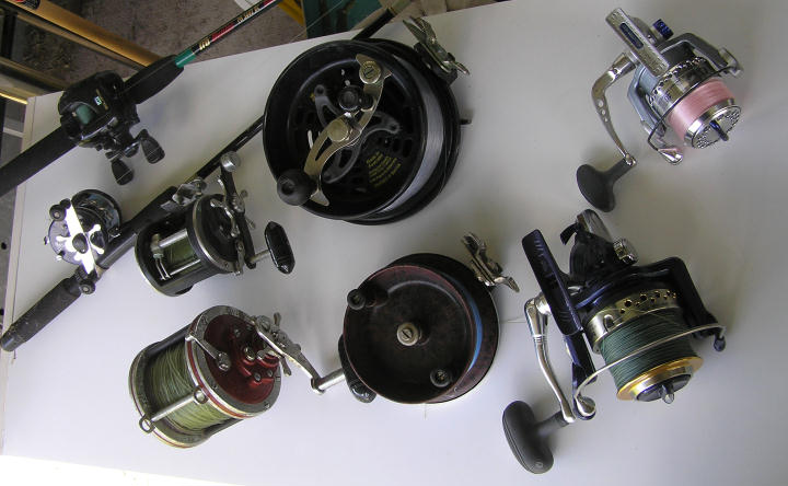 various fishing reel styles